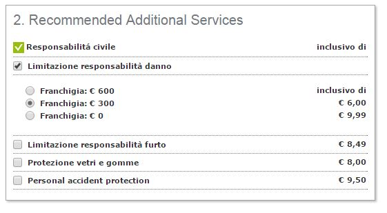 hertz assicurazione franchigia